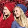 Beanie rot und blau