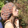 Beanie orange-grau