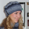Mütze Lady Jeansblau Melange